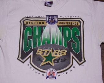 1999 NHL Dallas Stars Hockey Western Conference Champions T-Shirt Medium