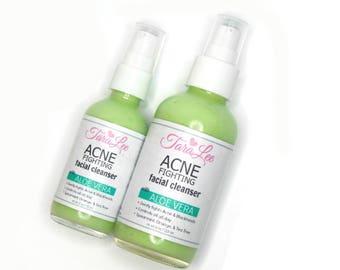 Acne Fighting Face Wash - Acne Face Wash - Acne Facial Cleanser -  BEST SELLING! Spearmint, Orange, & Tea Tree - Choose Size