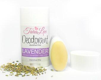 Lavender Deodorant, All Natural Deodorant, Vegan Deodorant, Aluminum Free Deodorant, TaraLee Deodorant