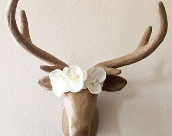 White Orchid Floral Crown/Headpiece- Bridal, Wedding, Engagement, Special occasion, Holiday, Photo shoot, Photo prop