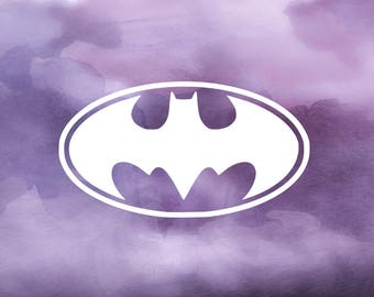 Batman Decal for Cars, YETI Cups, Laptops, and More! | Batman Logo Decal | Batman Sticker | Batman YETI Decal | Superhero Decal |
