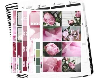 Pink Peonies Full Sticker Kit