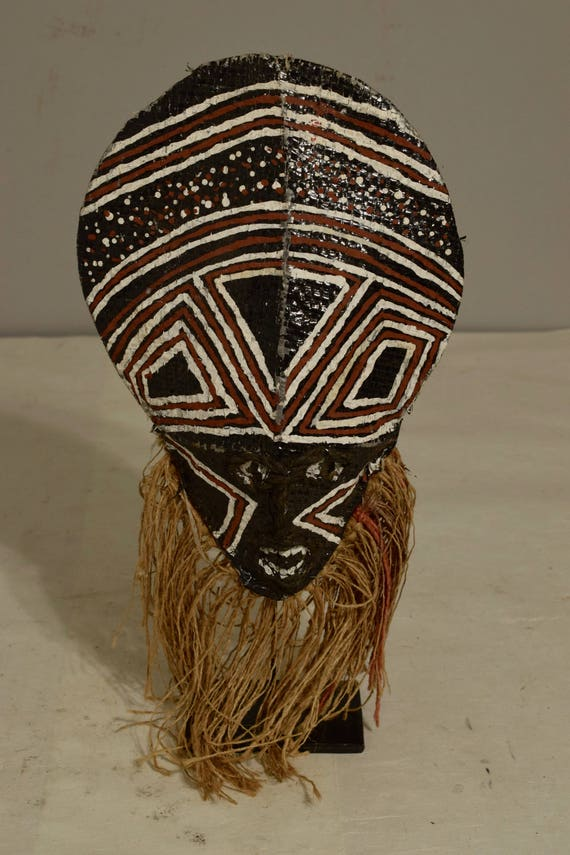 African Makish Cloth Mask Initiation Zambia Handmade Cloth Raffia Adulthood Spiritual Spirit Makish Mask