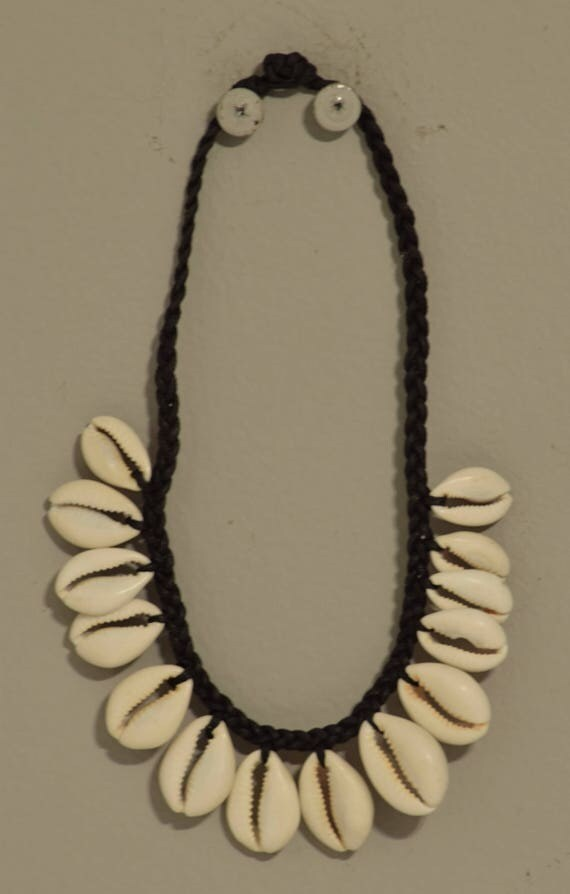Necklace African Cowrie Shell Choker Handmade Child's Cowrie Shell Necklace