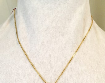 Vintage AVON Gold necklace with detailed diamond and pearl Oval pendent
