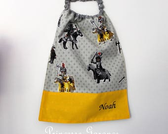 Birthday, canteen, school * napkin, canteen, with elastic at the neck, cotton Knights to order