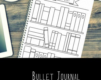 Bullet Journal Pages - Book - Reading - Printable - Template - A5 - A4 - US letter