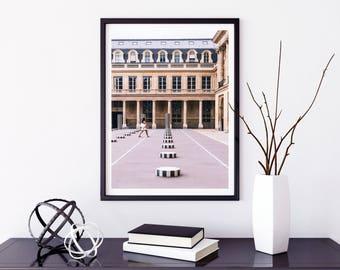 Fine Art Photography of Buren columns - Canvas Print of Paris - France - Wall Decoration - Travel