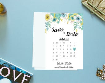 Save The Date. Floral