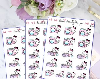 Laundry Queen Planner Sticker, Laundry Day Sticker, Errands Stickers, Laundry Chores Sticker, Scrapbook Sticker, Planner Accessories