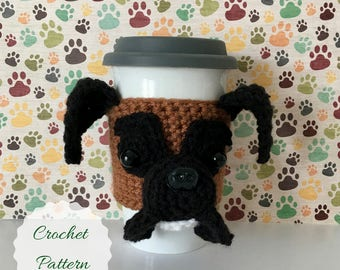Crocheting Patterns - Amigurumi Dog - Mug Cozy Pattern - Crochet Amigurumi - Amigurumi Pattern - Dog Crochet Pattern - Crochet Dog Pattern