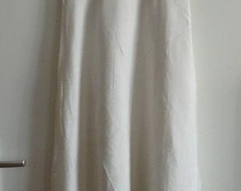 robe blanche fille longue ceremonie fleurs fille d'honneur taille 10/12 ans