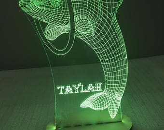 Dolphin Jumping Night Light