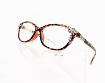 Reading glasses Women's, Palm trees, Retro Style Frames, Painted,