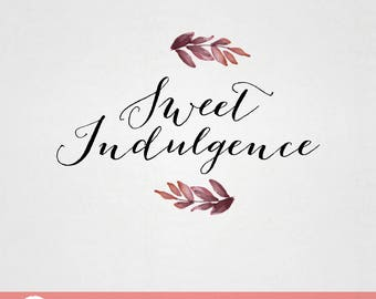 Custom Premade Food Logo Design - Sweet Indulgence cafe bakery dessert logo F008