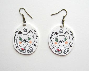 Because Cats earrings