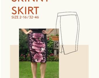 womens skirt PDF sewing pattern/skirt tutorial pdf pattern/PDF skirt sewing pattern for women/pencil skirt PDF tutorial sewing pattern