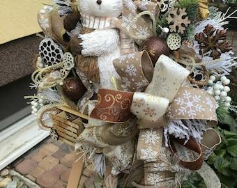 Winter Wreath, Front Door Wreath, Winter Home Decor, Christmas Wreath,  Winter Door Hanger, Winter Wall Decor, Winter Front Door