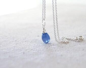 Natural Tanzanite Pendant - Sterling Silver Wire Wrapped - ADD ON Dangle Charm - Genuine Lavender Blue Gemstone - December Birthstone