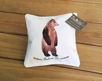 Sachet - Balsam Fir Sachet - Bear Sachet, Cabin Decor, Bear Decor, Fragrant Pillow, Scented Pillow, Bear,  Mini Pillow