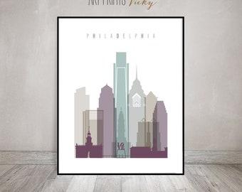 Philadelphia Wall Art Print Skyline Poster | ArtPrintsVicky.com