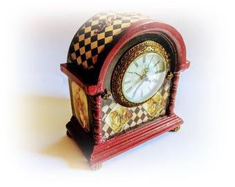 Alice in Wonderland Decor Alice Clock White Rabbit Clock Fairy Tale Clock Alice Adventures Clock Backwards Clock Unique Clock Gift