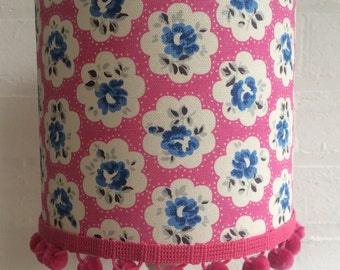 Cath Kidston Provence Rose Handmade Lampshade with pom poms 20cm