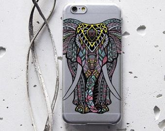 Elephant iPhone 7 iPhone 6 Case iPhone 6s Plus Case iPhone X Case Clear Case iPhone 8 Plus Case Animal iPhone 6 Plus Case Protective WC1191