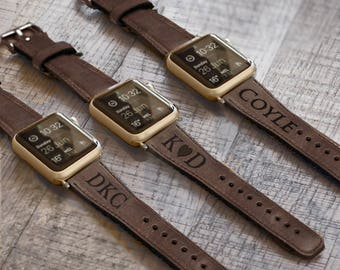 Leather Apple Watch band, 42mm, 38mm, Leather watch band, Apple watch strap, iwatch band, Apple watch leather band, brown iwatch strap