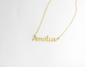 Name Necklace, Personalized Name Necklace, Custom Name Necklace, My Name Necklace, Dainty Name Necklace, Rose Gold Name, Mothers Day, SN0224