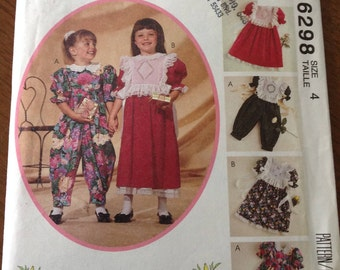 Girl's dress, jumpsuit and tabard pattern, heirloom sewing girl's dress and jumpsuit, tabard with tucks, embroidered girl's tabard