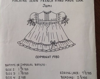 Briar Patch Designs by Becky Summers, Jami, heirloom sewing by machine, vintage girl's dress, vintage pattern, embroidered dress