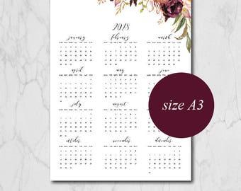 Calendrier 2018 calendrier mural 2018 calendrier fichier for Calendrier digital mural