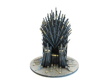 Game of Thrones, Cake Topper, Game of Thrones Gift, Gift for Him, Statue, Husband Gift, Gift for Her, Throne Statue, Boyfriend Gift, Decor