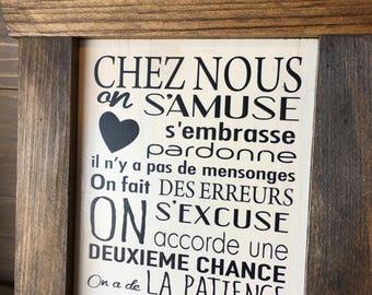 """Plaque """"Chez Nous"""""""