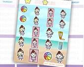 Mimi's Summer Edition - Party on the beach, Bikini, Beach Ball, Sun Tanning Planner Stickers