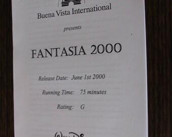 Disney's Fantasia 2000 Press Release