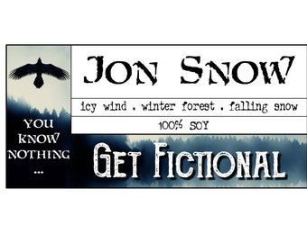 Jon Snow {Game of Thrones} Soy Candle