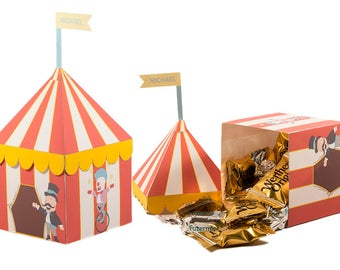 Circus Themed Party. Carnival themed Party. Favor Box. Circus Tent Treat box.  sc 1 st  Etsy & Circus favor box | Etsy