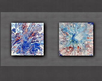 Acrylic Pour Painting,  Abstract Fluid Painting, Acrylic pour art, Small painting, Original Painting, Home Decor, Modern Wall Art