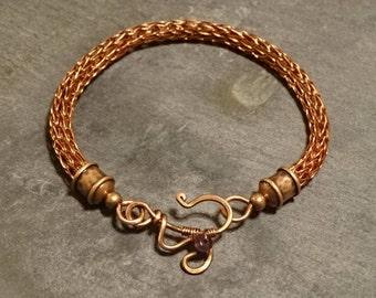 Viking Knit Bracelet Amethyst Ornate Clasp