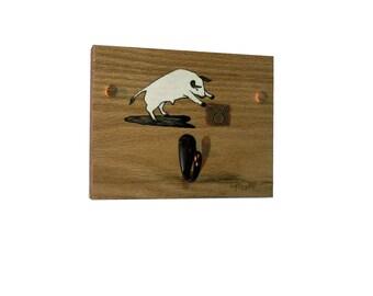 Coat Rack Wood Home Decor, Rustic Decor Coat Rack Taurus Zodiac