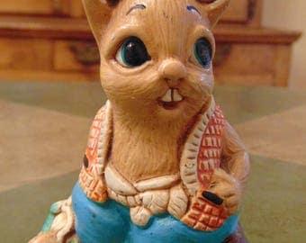 Vintage Woodlander Rabbit Stoneware Figurine PAUL