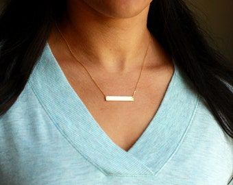 Personalized Bar Necklace | Personalized Necklace Gold | Personalized Necklace | Gold Bar Necklace | Name Bar Necklace | Kids Initials Bar