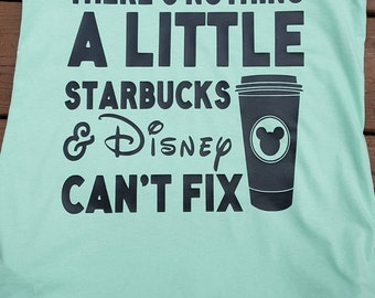 There's nothing a little Starbucks & Disney can't fix tank top