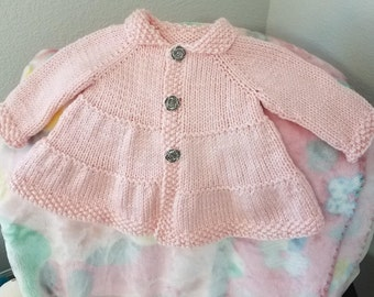 Tiered Baby Coat by Frogginette Knitting Patterns