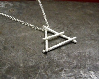 Air Alchemy Silver Pendant and Chain