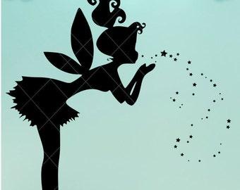 Fairy Blowing Kiss / Fairy Svg / Svg / Fairy Kiss / Fairy Light / Fairy Dxf / Mason Jar / Fairy Png