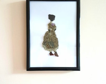Bead Art Silhouette - Jane
