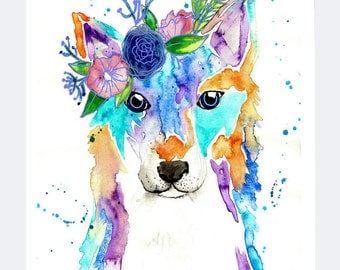 Fox + Flower Print